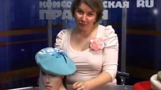 getlinkyoutube.com-Превращаем обычный берет в стильный головной убор