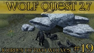 getlinkyoutube.com-Attack of the Stranger Wolf Pack!! || Wolf Quest 2.7 - Brothers Journey || Episode #19