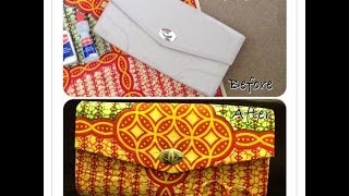 getlinkyoutube.com-DIY: How To Cover A Clutch Bag With African Ankara Farbic