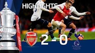 getlinkyoutube.com-ARSENAL vs TOTTENHAM HOTSPUR 2-0: Official Goals & Highlights FA Cup Third Round