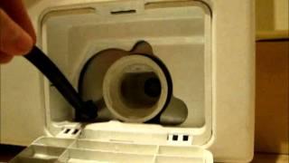 getlinkyoutube.com-Samsung Washing Machine cleaning the pump & coin trap