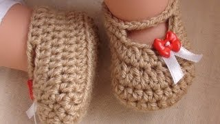 getlinkyoutube.com-Posh Crochet Baby Booties - Newborn to 12 Month Old Sizes