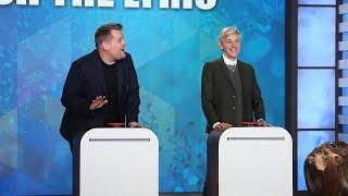 getlinkyoutube.com-'Finish the Lyric' with Ellen, James Corden & Jesse Tyler Ferguson