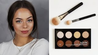 getlinkyoutube.com-NYX CONTOUR & HIGHLIGHT PRO PALETTE / BEAUTY ON A BUDGET