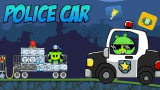 getlinkyoutube.com-POLICE CAR! - Bad Piggies Inventions