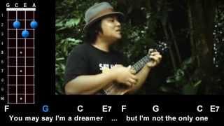 "getlinkyoutube.com-""Imagine"" (John Lennon) Ukulele Play-Along!"
