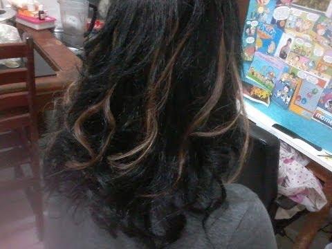 Como descolorir cabelos pretos #6