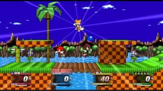 getlinkyoutube.com-super smash bros crusade - Sonic vs Tails vs Kuckles vs Shadow
