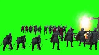 getlinkyoutube.com-green screen - Medieval castle siege (HD1080)
