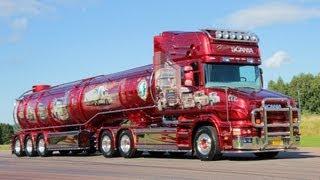 "getlinkyoutube.com-SCANIA T164 V8 ""HISTORY OF SCANIA"" Nordic Trophy Trailer Trucking Festival"