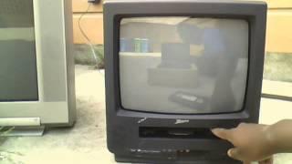 VCR Test on the Zenith TVBR1304Z CRT TV/VCR Combo