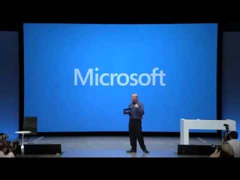 Microsoft Surface Keynote at launch event
