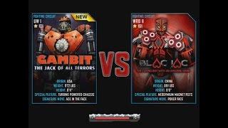 getlinkyoutube.com-Real Steel WRB Gambit VS Blac Jac NEW ROBOT Christmas updating