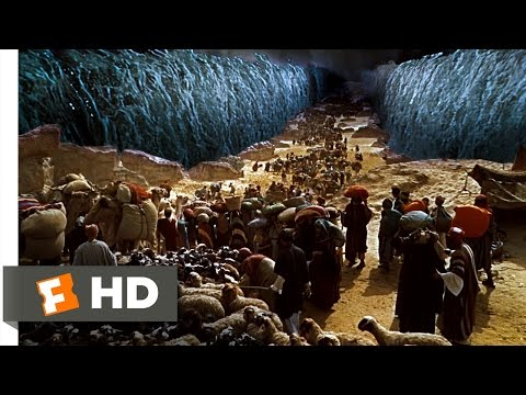 Moses Parts the Sea - The Ten Commandments (6/10) Movie CLIP (1956) HD