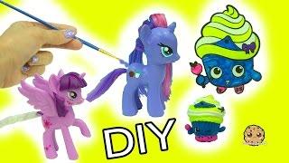 getlinkyoutube.com-My Little Pony Custom Painting & Shopkins Limited Edition Cupcake Queen Inspired DIY
