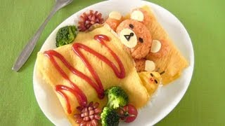 getlinkyoutube.com-Rilakkuma Omurice (Bento Idea) リラックマ オムライスの作り方 (レシピ) - OCHIKERON - CREATE EAT HAPPY
