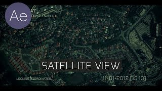 AE: Satellite View - After Effects Tutorial
