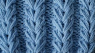 "getlinkyoutube.com-Узор ""Колоски"" / Knitting pattern ""Spikelets"""
