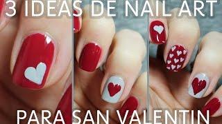 getlinkyoutube.com-3 ideas para decorar tus uñas de San Valentín en menos de 5 minutos | FÁCIL