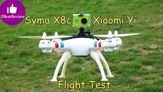 getlinkyoutube.com-✔ Syma X8c Quadcopter Flight with Xiaomi Yi Camera! 1080p 60 fps!