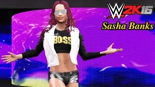 "WWE 2K16 Sasha Banks ""Legit Boss"" Attire & Entrance Community Creations Showcase (PS4)"