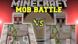 getlinkyoutube.com-Mutant Iron Golem Vs. Iron Golem - Minecraft Mob Battles - Chocolate Quest Mod