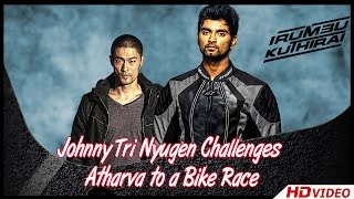 getlinkyoutube.com-Irumbu Kuthirai Tamil Movie - Johnny Tri Nyugen Challenges Atharva to a Bike Race