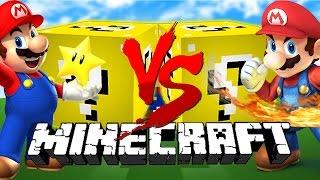 getlinkyoutube.com-Minecraft: MARIO LUCKY BLOCK CHALLENGE | Mario vs Mario!