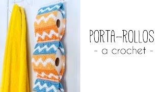 getlinkyoutube.com-Como tejer un PORTAROLLOS para el baño a crochet | TUTORIAL PASO A PASO · Ahuyama Crochet