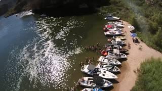 DJI drone part 2 saguaro  Lake girls topless