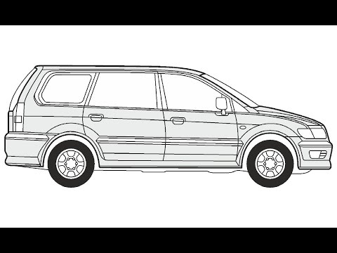 How to Draw a Mitsubishi Space Wagon нарисовать Mitsubishi Space Wagon