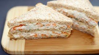 getlinkyoutube.com-แซนวิชปูอัดแบบไส้ทะลัก - How to make Crab Stick Sandwich
