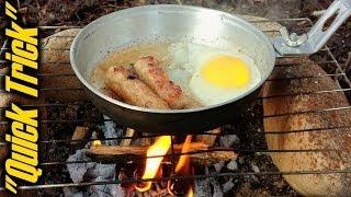 """getlinkyoutube.com-Easy Campfire Cooking Cleanup - """"Quick Trick"""" (E5)"""