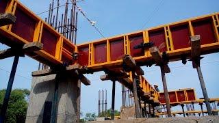 getlinkyoutube.com-Formwork for Concrete Beam Construction - Shuttering System of Beam - Application on site