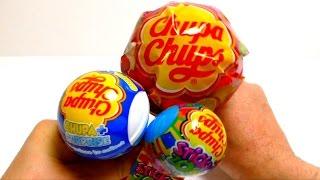 getlinkyoutube.com-Chupa Chups Mini Mega Pop & Chupa Surprise Ball & Sticky Zoo