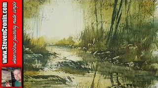 How To Paint a Simple Stream in the Woods