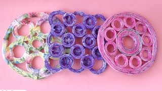 getlinkyoutube.com-Sottopentola con carta riciclata - Trivets with recycled paper