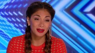 Melissa Pedro with her Crazy   Auditions Week 1   The X Factor UK 2016