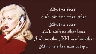 getlinkyoutube.com-Christina Aguilera - Ain't No Other Man Lyrics Video