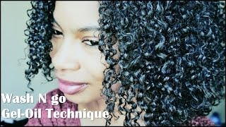 getlinkyoutube.com-Wash N Go for Less Shrinkage| Gel/Oil Technique (4a/3c)