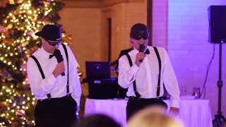Brothers of the Bride Do a Surprise Rap/Toast at Wedding Reception width=