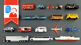 getlinkyoutube.com-Learning Street Vehicles Names and Sounds for kids with tomica 2015 Cars and Trucks