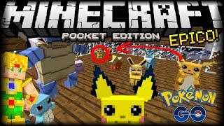 Pokemon Go en Minecraft PE 1.0 !? - Pixelmon Mod - Mods Para Pocket Edition