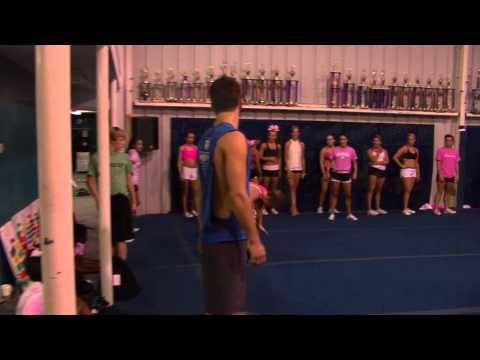 Cheer Extreme Sr. Elite August practice (Part 2 of 3) Conditioning & Tumbling