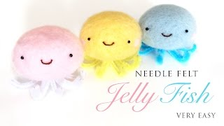 getlinkyoutube.com-Kawaii Jellyfish - Best Needlefelt Kit For Beginners!