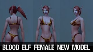 getlinkyoutube.com-Blood Elf Female Character New Model Preview - Warlords of Draenor