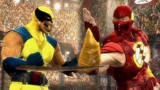 Mortal Kombat 9 - Wolverine VS The Flash [1080p] PC Mods TRUE-HD QUALITY