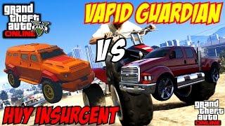getlinkyoutube.com-GTA 5 PS4 - HVY Insurgent Armed Vs Vapid Guardian   #121 (GTA V)