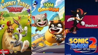 getlinkyoutube.com-Talking Tom Gold Run vs Sonic Dash 2 Sonic Boom vs Looney Tunes Dash game for kids