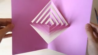 "Super Easy Way To Make A ""Magic Spinning Kirigami"" Card Tutorial"